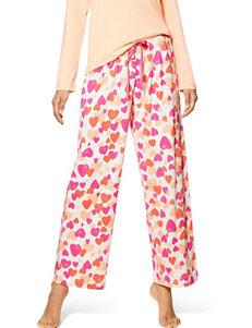 Hue White Multi Pajama Bottoms