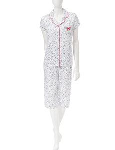 Laura Ashley White Pajama Sets