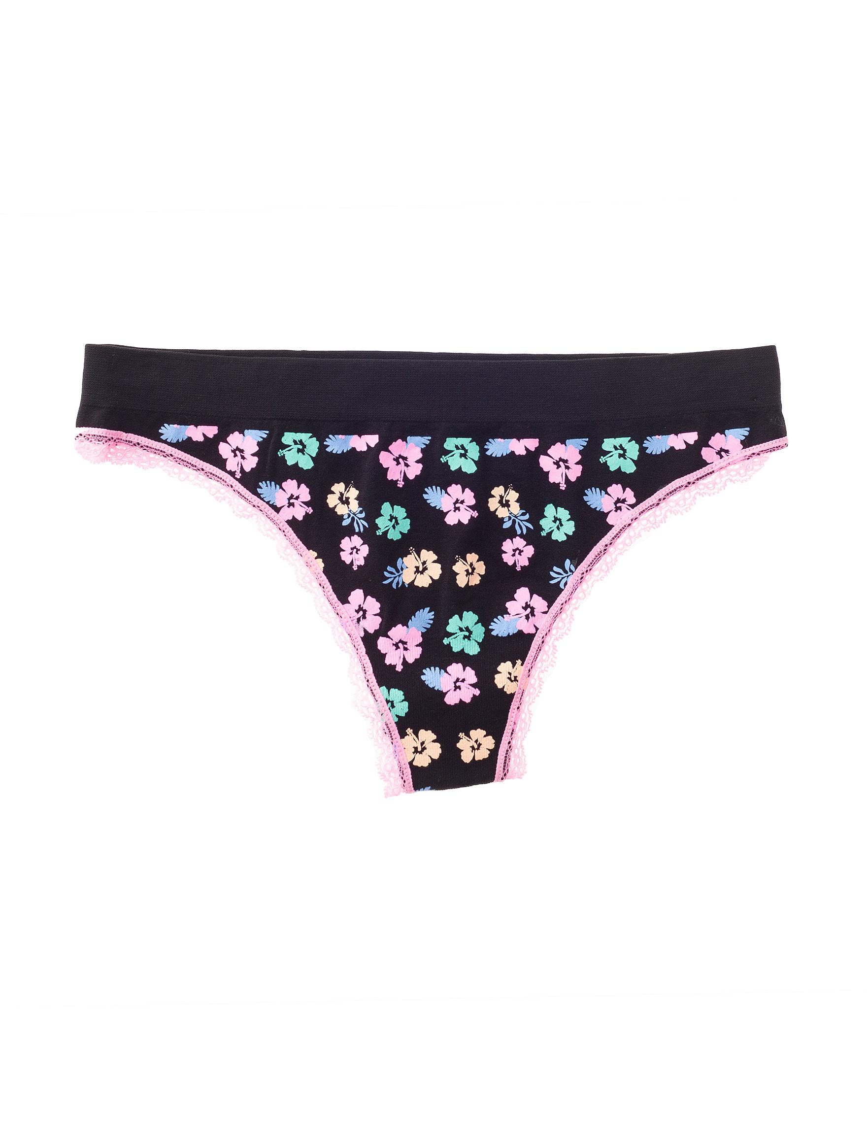 B Intimates Floral Panties Hipster Seamless Thong