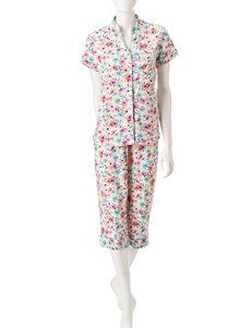 White Orchid Dark Pink Pajama Sets