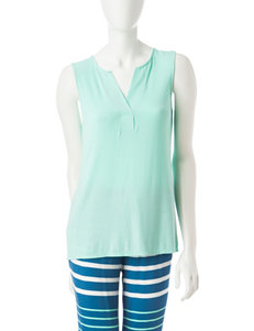 Laura Ashley Aqua Pajama Tops