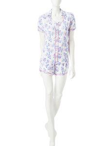 Hanes White Pajama Sets