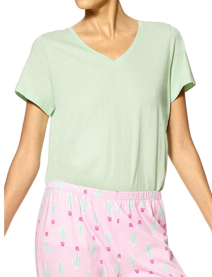 Hue Green Pajama Tops