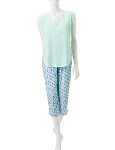 White Orchid Mint Pajama Sets