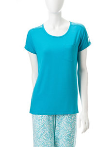 Cool Girl Blue Pajama Tops