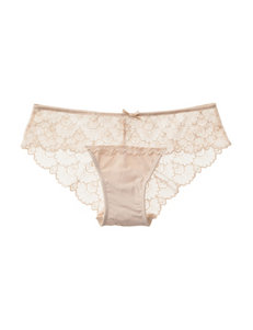 Rene Rofe Beige Panties Bikini High Cut
