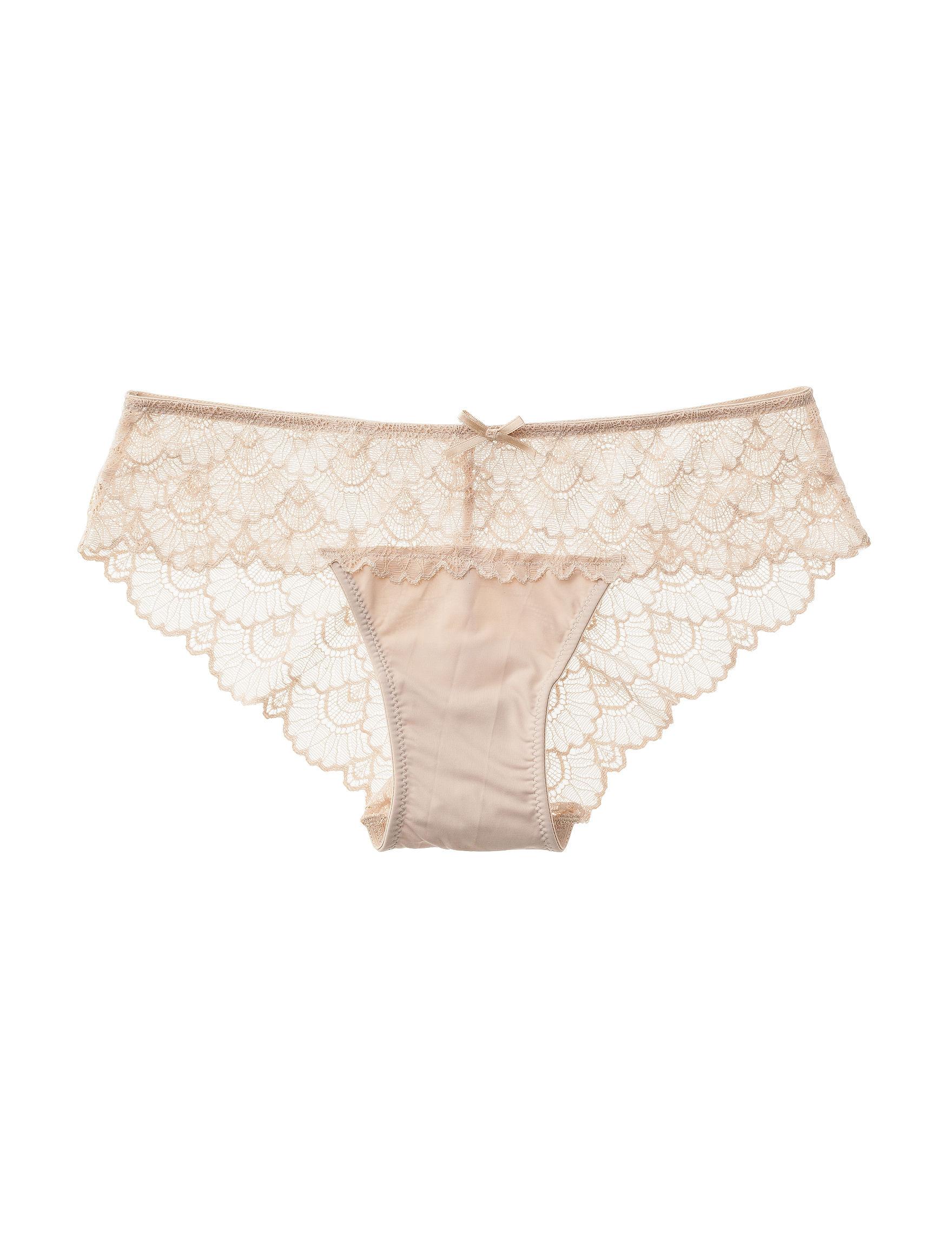 Rene Rofe Beige Panties Bikini High Cut