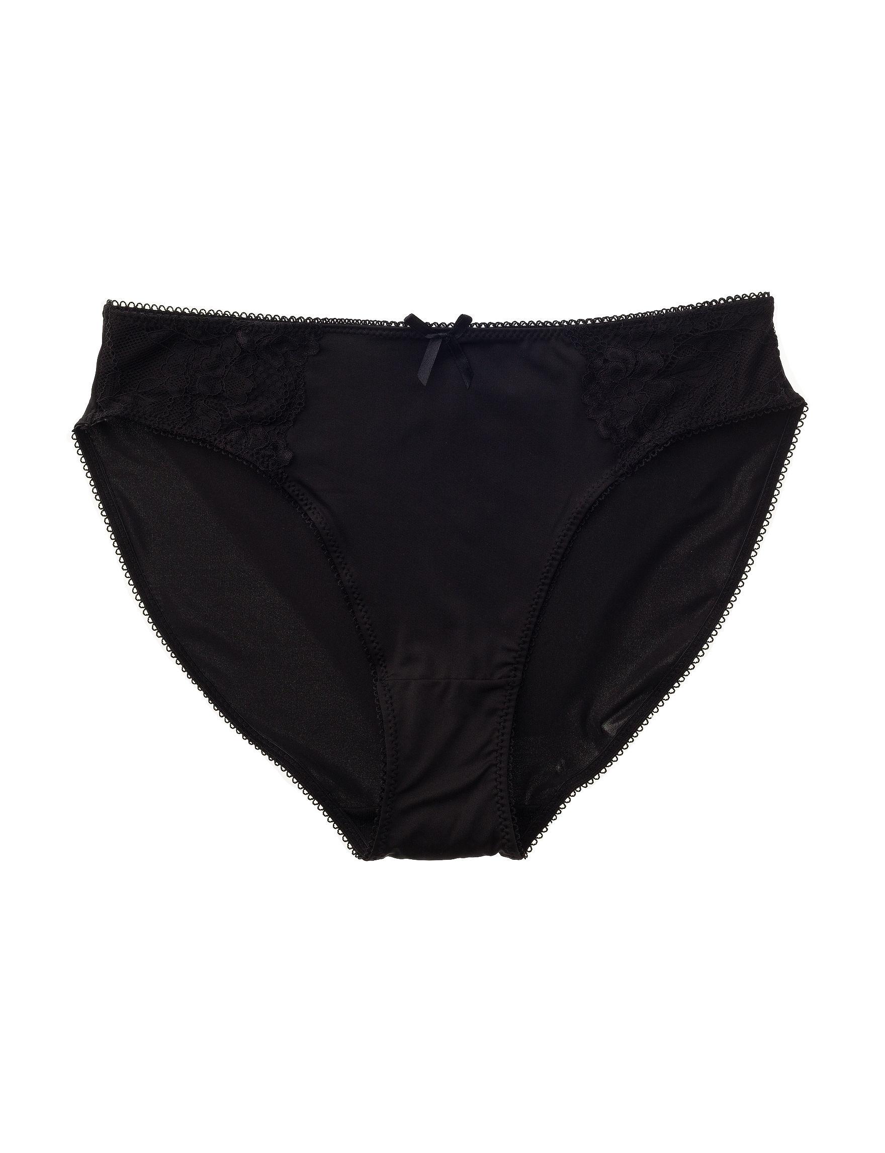 Rene Rofe Black Panties High Cut