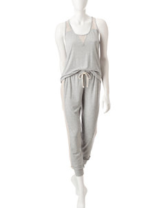 PJ Couture Heather Grey Pajama Sets