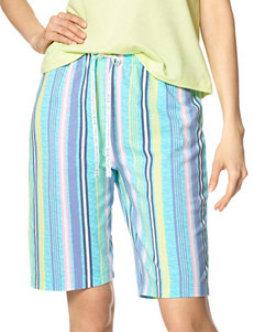 Hue Striped Print Bermuda Sleep Shorts