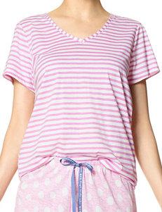 Hue Pink Pajama Tops