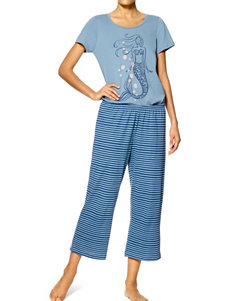Hue 2-pc. Mermaid Capri Pajamas