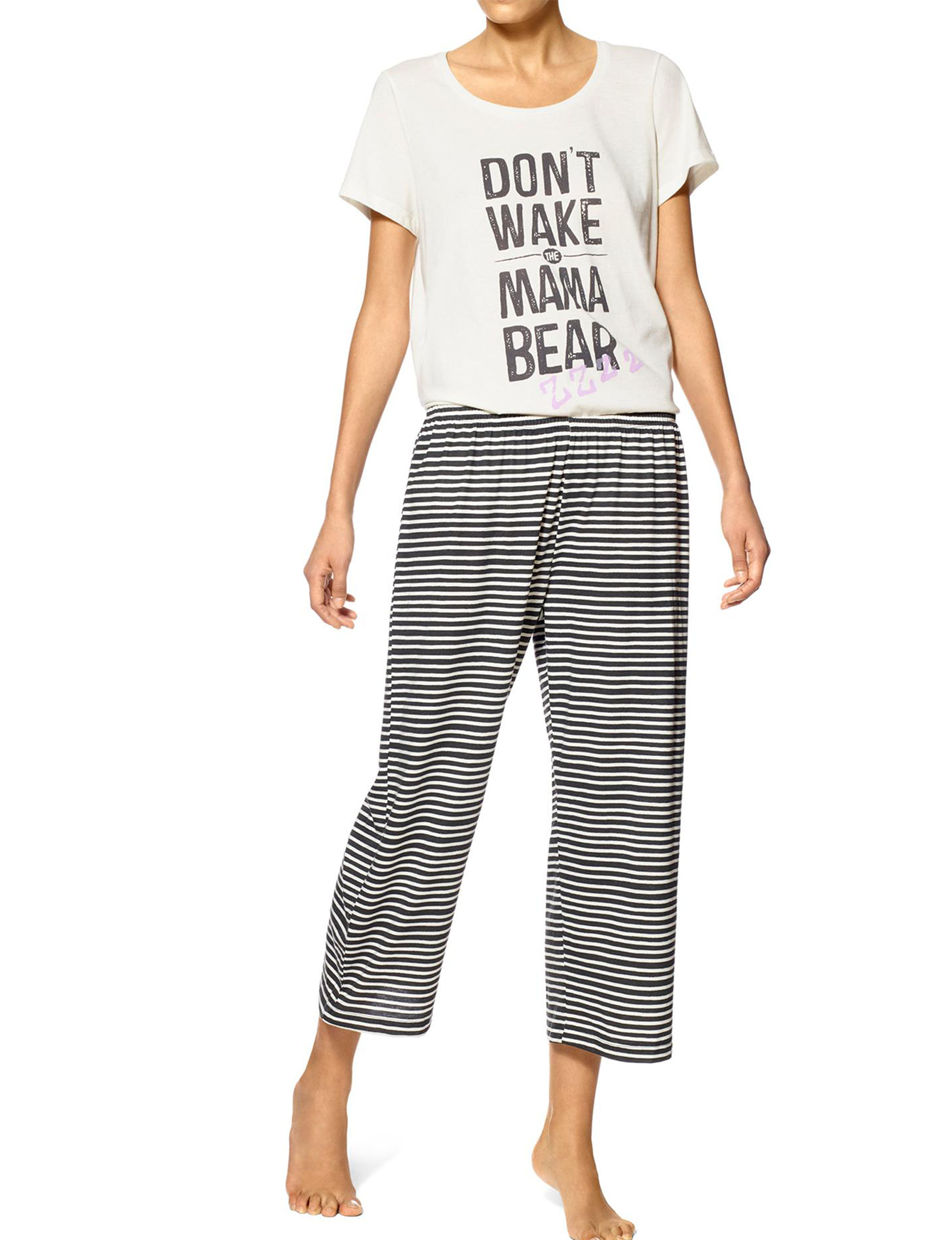 Hue Off White Pajama Sets