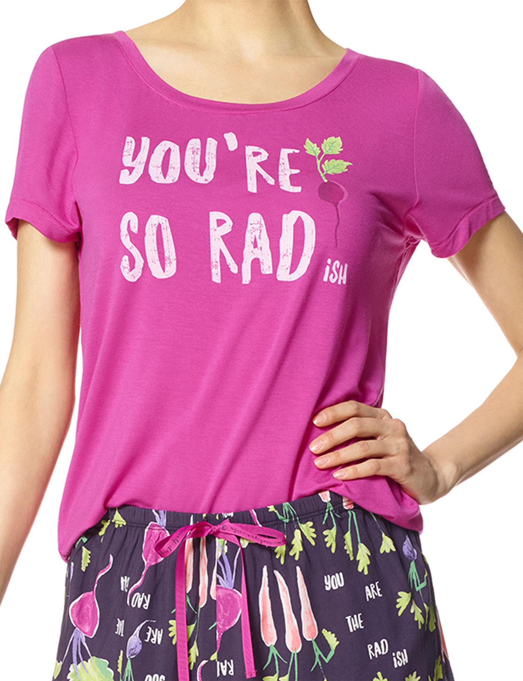 Hue Rose Pajama Tops