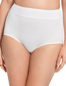 Warner's White Panties Briefs