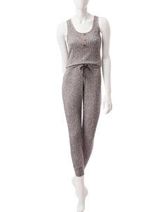 PJ Couture Black Pajama Sets