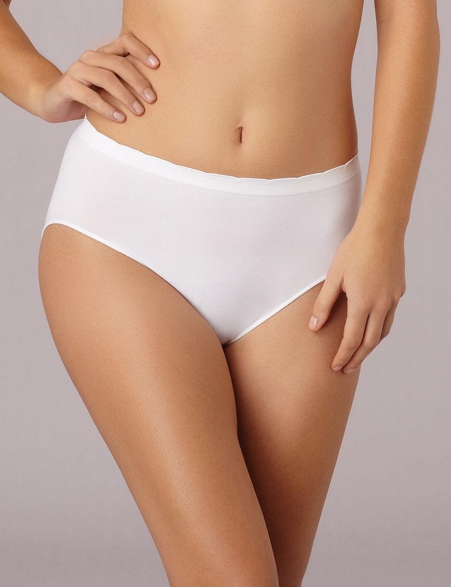 Ellen Tracy White Panties Hi Cut