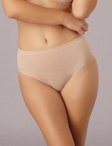 Ellen Tracy Beige Panties Hi Cut