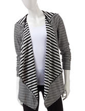 Heart Soul Striped Hooded Cardigan