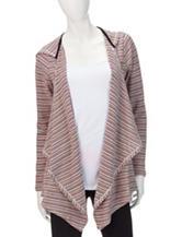 Heart Soul Striped Hacci Knit Cardigan
