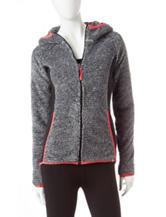 RBX Sherpa Black & White Color Block Hoody Jacket