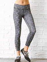 Inspired Hearts Striated Print Performance Crop Pants