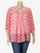 Eyeshadow Chevron Studded Top – Juniors Plus