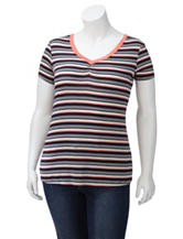 Wishful Park Striped Cinched Top – Juniors Plus