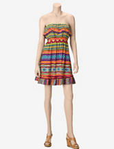 Justify Chiapas Southwestern Print Strapless Dress – Juniors