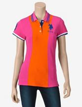 U.S. Polo Assn. Pink & Orange Big Pony Polo Shirt – Juniors