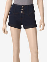 Southpole Solid Color High Waist Denim Shorts – Juniors
