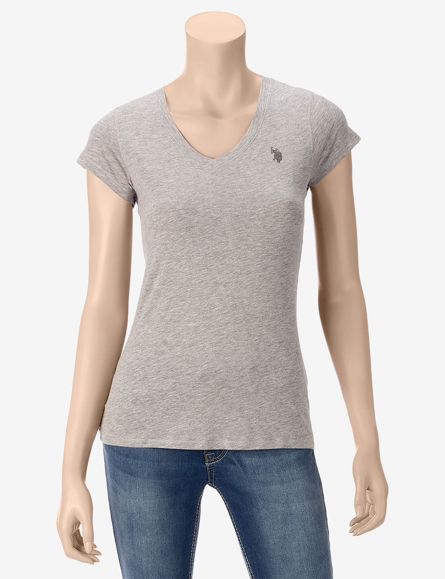 U.S. Polo Assn. Grey Tees & Tanks