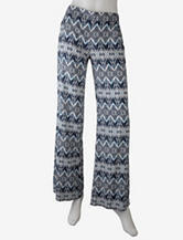 A. Byer Blue Geo Print Wide Leg Pants – Juniors