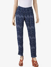 BeBop Blue Challis Dot Chevron Pants – Juniors