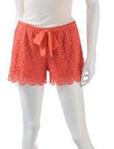 Heart Soul Big Flower Crochet Shorts – Juniors