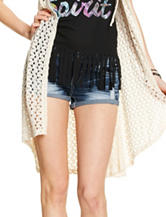 Almost Famous Distressed Denim Shorts – Juniors