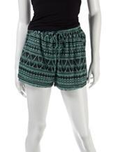 BeBop Black & Mint Crochet Knit Shorts