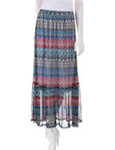 Self Esteem Aztec Chevron Print Maxi Skirt