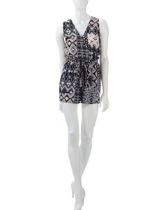 BeBop Abstract Print Romper – Juniors