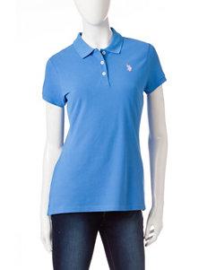 U.S. Polo Assn. Turquoise/Aqua Shirts & Blouses