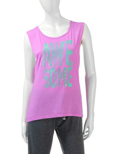 Rampage Violet Open Back Tank Top – Juniors