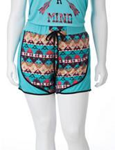 Self Esteem Mint Southwestern Print Shorts – Juniors Plus