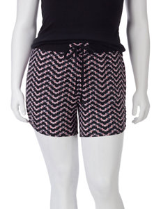Self Esteem Electrifying Chevron Print Shorts – Juniors Plus