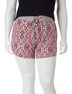 Self Esteem Multicolor Kaleidoscope Print Shorts – Juniors Plus