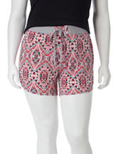 Self Esteem Multicolor Kaleidoscope Print Shorts – Juniors Plus
