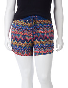 Self Esteem Multicolor Chevron Tribal Print Shorts – Juniors Plus