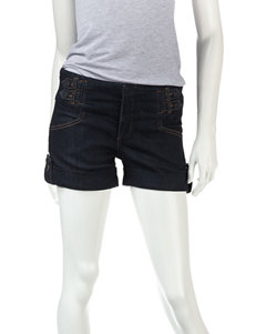 Boom Boom Double Tab Denim Blue Shorts