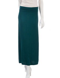 Justify Solid Color Knit Maxi Skirt