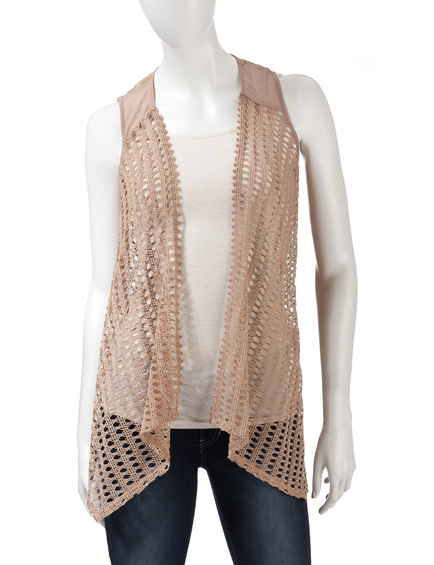 Heart Soul Mocha Sweaters Vests