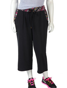 Ultra Flirt Solid Color Tribal Trimmed Crop Pants Ð Juniors-plus
